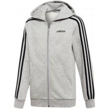 Sweat Adidas Junior Garçon à Capuche Zippé Gris
