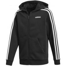 Sweat Adidas Junior Garçon 3 Stripes à Capuche Zippé Noir