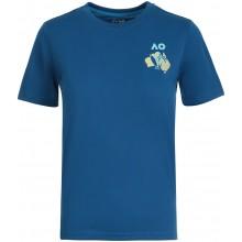 Tee-Shirt Junior Garçon Australian Open 2021 Melbourne Crew Bleu