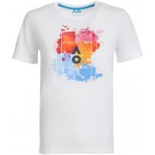Tee-Shirt Junior Garçon Australian Open 2021 Splatter Blanc