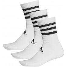 3 Paires de Chaussettes Adidas Cushion Crew 3 Stripes Blanches