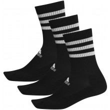 3 Paires de Chaussettes adidas Cushion Crew 3 Stripes Noires