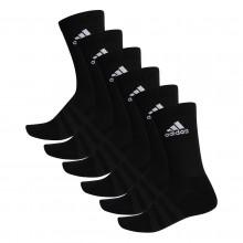 6 Paires de Chaussettes adidas Cushion Crew Noires