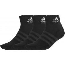 3 Paires de Chaussettes adidas Cush Ankle Noires