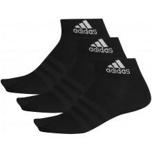 3 Paires De Chaussettes Adidas Light Noires