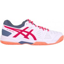 Chaussures Asics Femme Gel Pro 3 SG Padel Terre-Battue Blanches