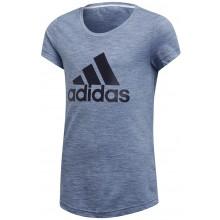Tee-Shirt Adidas Training Junior Fille ID Winner Bleu