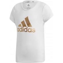 Tee-Shirt Adidas Traning Junior Fille Logo Blanc