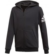 Sweat À Capuche Adidas Zippé Training Junior BOS Logo Fleece Noir