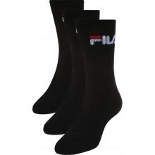 Chaussettes Fila 3 Paires Noires