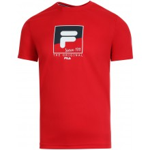 Tee-Shirt Fila Sandro Rouge