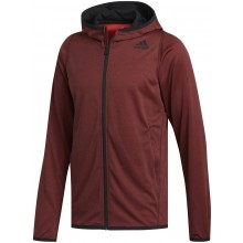 Sweat Adidas Lite Zippé À Capuche Rouge