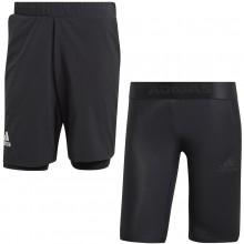 Short 2 en 1 Adidas Noir