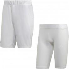 Short 2 en 1 Adidas Tsitsipas Blanc