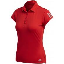 Polo Femme Adidas Club 3 Stripes Rouge