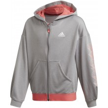 Sweat à Capuche Adidas Junior Fille Aeroready Zippé Gris