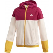 Sweat Adidas Junior Fille à Capuche Zippé Rose