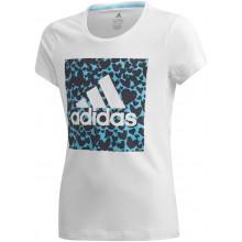 Tee-Shirt Adidas Junior Fille Leo Graphic Blanc