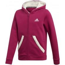 Sweat Adidas Junior Fille à Capuche Zippé Framboise