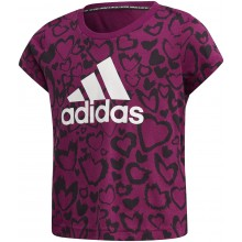 Tee-Shirt adidas Junior Fille Violet