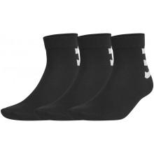 3 Paires de Chaussettes adidas Ankle 3 Stripes Noires