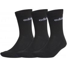 3 paires de Chaussettes Adidas Crew Noires