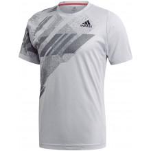 Tee-Shirt Adidas Freelift Print New York Tsitsipas Gris