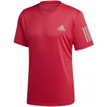 Tee-Shirt Adidas Club 3 Stripes Rouge