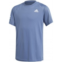 Tee-Shirt Adidas Junior Garçon Club 3 Stripes Marine