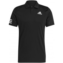 Polo Adidas Club 3 Stripes Noir