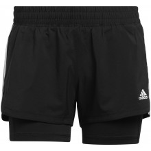 Short Adidas Femme Pacer 3S 2IN1 Noir