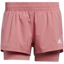 Short Adidas Femme Pacer 3S 2IN1 Rose