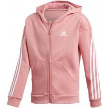 Sweat à capuche adidas Junior Fille 3 Stripes Zippé Rose