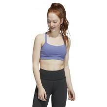 Brassière Adidas Femme LS Yoga Bleue