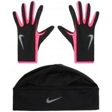 Ensemble Nike Femme Dri-Fit Bonnet-Gants Noirs