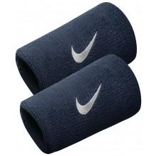 Serre-poignets Nike Swoosh Double Largeur Bleus