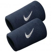 Serre Poignets Nike Swoosh Double Largeur Bleus