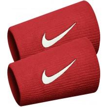 Serre-poignets Nike Swoosh Double Largeur Rouges