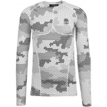 Tee-Shirt Compression Hydrogen Printed Second Skin Manches Longues Blanc