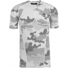 Tee-Shirt Compression Hydrogen Printed Second Skin Manches Courtes Blanc