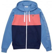 Sweat à Capuche Lacoste Good Colorblock Zippé Bleu