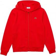 Sweat à Capuche Lacoste Core Lifestyle Zippé Rouge