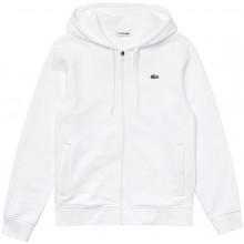 Sweat à Capuche Lacoste Core Lifestyle Zippé Blanc