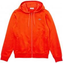 Sweat à Capuche Lacoste Lifestyle Zippé Orange