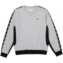 Sweat Lacoste Tape Story Gris
