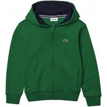 Sweat à Capuche Lacoste Junior Zippé Vert