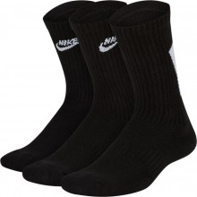 3 Paires de Chaussettes Nike Everyday Noires