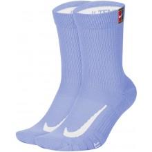 2 Paires de Chaussettes Nike Cushion Crew Bleues