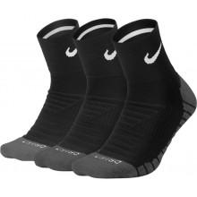 3 Paires de Chaussettes Nike Dry Cushion Quarter Noires