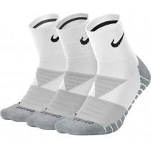 3 Paires De Chaussettes Nike Dry Ion Quarter Blanches